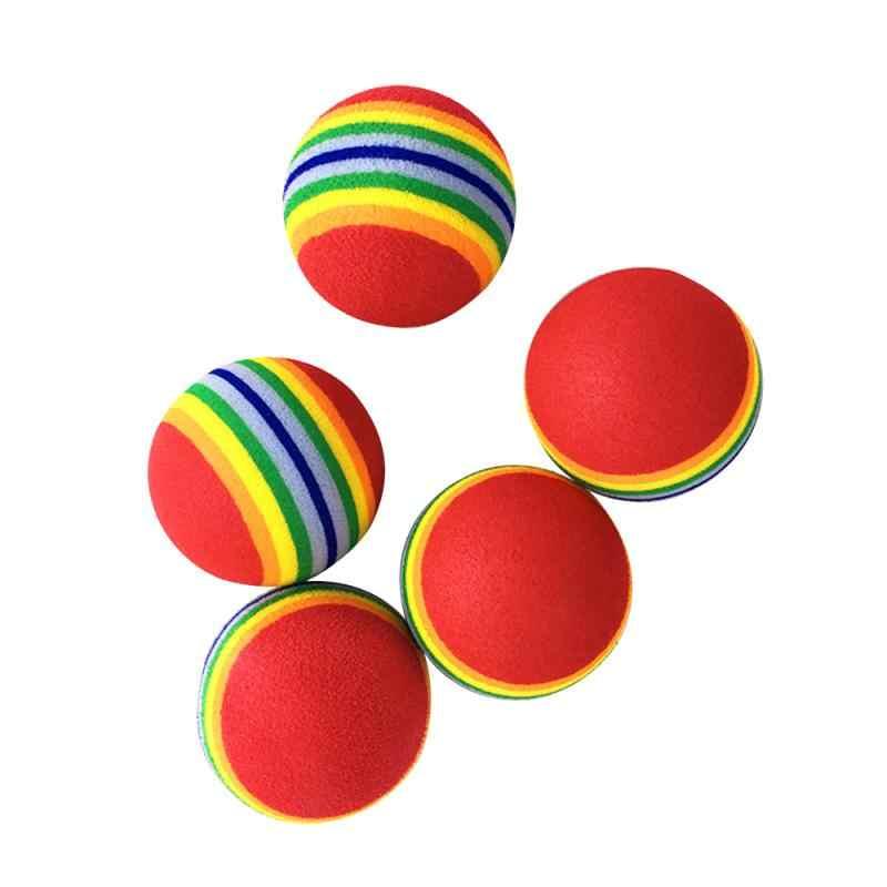 2020 موضة جديدة قوس قزح الكرة القط لعبة التفاعلية الحيوانات الأليفة مقاومة للخدش رغوة إيفا الملونة الكرة لعبة تدريب الحيوانات الأليفة الكرة