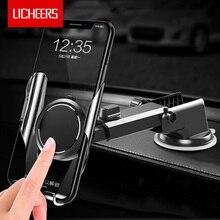 حامل هاتف للسيارة من Licheers, حامل يُثبت على الزجاج الأمامي للسيارة مناسب لهواتف آيفون X XS MAX 8 7 Plus وهواتف شاومي وسامسونغ S9 S8