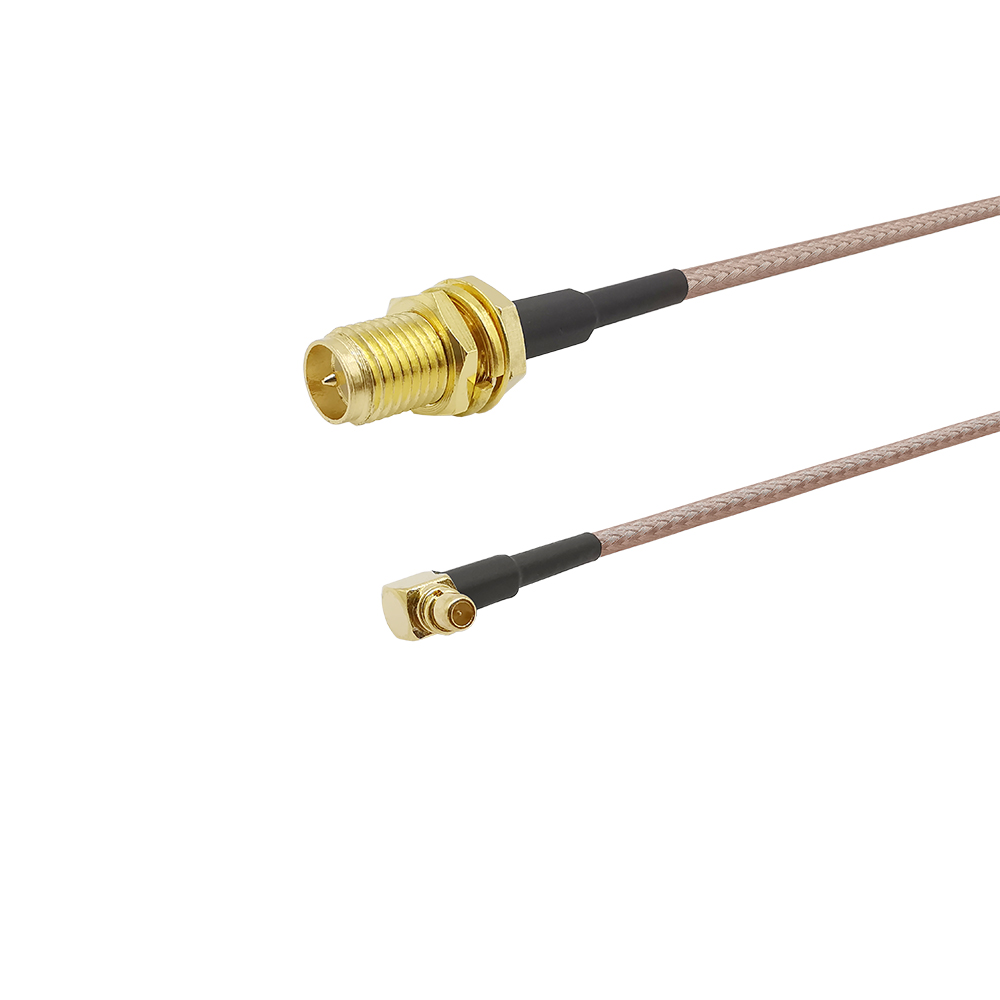 SMA Switch MMCX RF Pigtail Cable RP-SMA Female To MMCX Male Right Angle Crimp RG316/RG316D/RG178/RG174 RF Cable Assembly