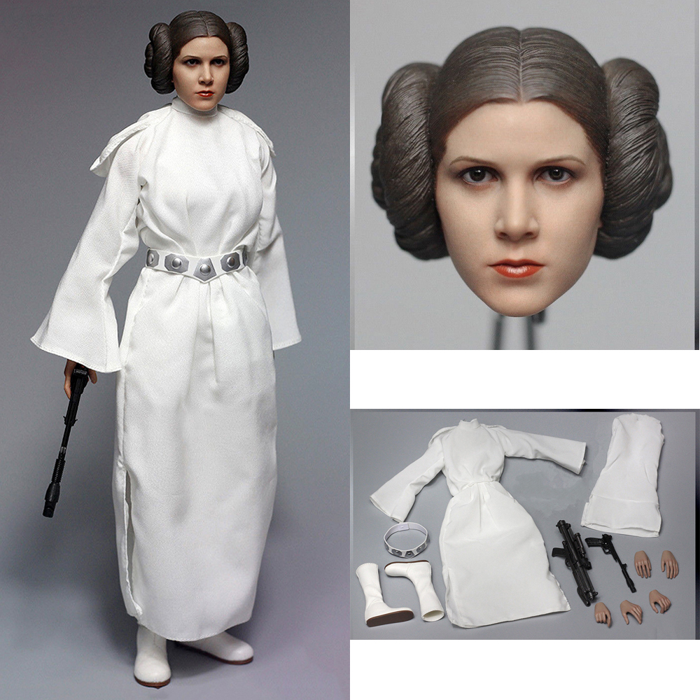 1/6 Scale New Hope Princess Leia Action Figure Toy For Collection  Clothing Set AFIRE A012 Full Set Figure