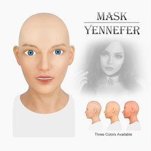 GorgeousU Realistic Silicone Female Angel Face Mask Masquerade Halloween Cosplay Drag Queen Crossdresser Cosplay Costumes
