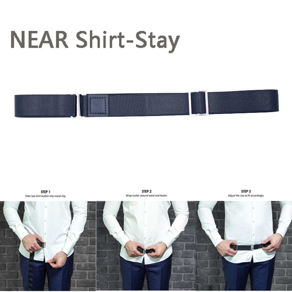 Men Buckle Waist Belt Tucked in Shirt Stays Automatic Waist Strap Belt One Size