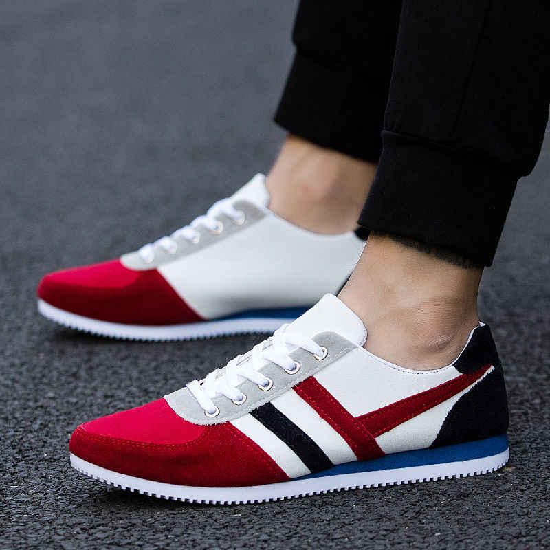 2019 Новая мужская повседневная обувь Lac-up легкая мужская обувь удобные дышащие прогулочные теннисные кроссовки Feminino Zapatos