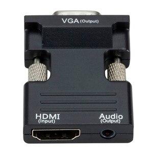 Image 4 - HDMI נקבה ל vga זכר ממיר עם אודיו מתאם תמיכה 1080P אות פלט עבור מולטימדיה מחשב נייד טלוויזיה צג מקרן