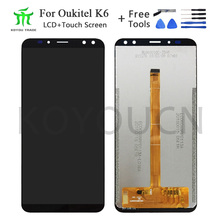 6inch For Oukitel K6 LCD Display+Touch Screen 100% Tested LCD Digitizer Glass Replacement For lcds K6 display phone for oukitel k6000 plus lcd display touch screen digitizer for oukitel k6000 plus display screen lcd phone parts free tools