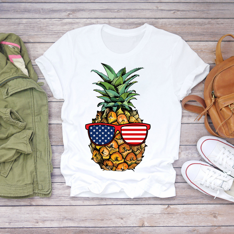 Купить женская футболка с графическим принтом пляжная оранжевого цвета