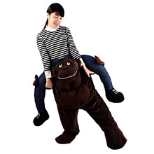 Chimpanzee Monkey Pant Riding Shoulder Carrier Mascot Fancy Dress Party Costume Outfit(China)