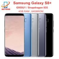 Samsung-teléfono inteligente Galaxy S8 Plus, G955U, G955U1, 4GB de RAM, 64GB de ROM, ocho núcleos, 6,2 pulgadas, Snapdragon, huella dactilar, NFC, 4G, LTE, Original