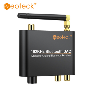 Neoteck 192kHz Digital Coaxial Toslink to Analog Stereo L/R RCA 3.5mm Audio Adapter Converter With Bluetooth Receiver For AMP