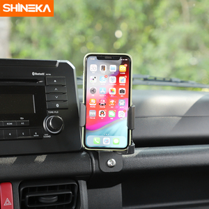 Image 3 - SHINEKA soporte Universal para automóvil Suzuki Jimny JB74 2019 + soporte de teléfono para coche, portavasos, organizador para Jimny 2019 +
