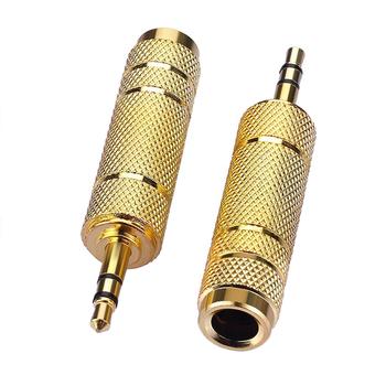 6 35mm męski wtyk do 3 5mm żeńskie złącze wzmacniacz słuchawkowy Adapter Audio mikrofon AUX 6 3 3 5 Mm konwerter tanie i dobre opinie int box pro 3 5mm (1 8 gniazdo) Kobiet CN (pochodzenie) 6 35mm 1 4 Male 3 5mm 1 8 Female Golden Amplifier headphone microphone MIC audio adapter and other equipment