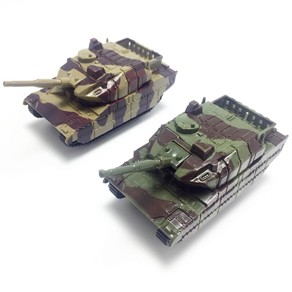 Mini Tank Simulation Model Children Pull Back Toy Desktop Decor Birthday Gift