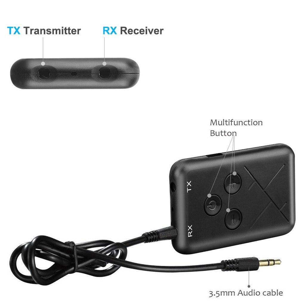 2 в 1 аудио беспроводной Bluetooth 4,2 передатчик приемник 3,5 мм стерео аудио адаптер для ТВ автомобильный динамик музыка