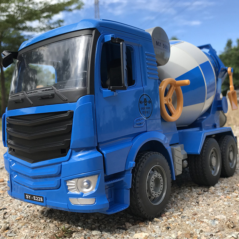 Double E Children Cement Truck Mixer Truck Toy Large Size Boy Inertia Concrete Engineering Tanker Model