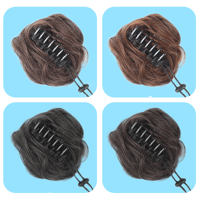 Allaosify Women Donut Chignon Hair Bun Donut Clip In Hairpiece Extensions Synthetic Hair Extensions High Temperature Curly Bun 1