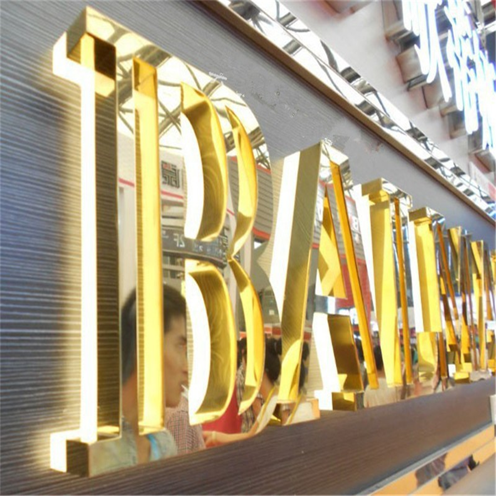 Letter-Sign Factory-Outlet Stainless-Steel Outdoor-Back Lit Advertising Restaurant-Company