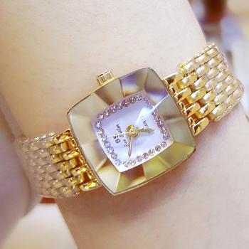Złote słynne damskie zegarki luksusowe marki eleganckie małe zegarki damskie zegarki wodoodporne zegarki damskie Montre Femme 2020 tanie i dobre opinie COSFIX QUARTZ Składane zapięcie z bezpieczeństwem CN (pochodzenie) Stop 3Bar Moda casual 13mm Plac 10mm Hardlex Women Watches BS-FA1197