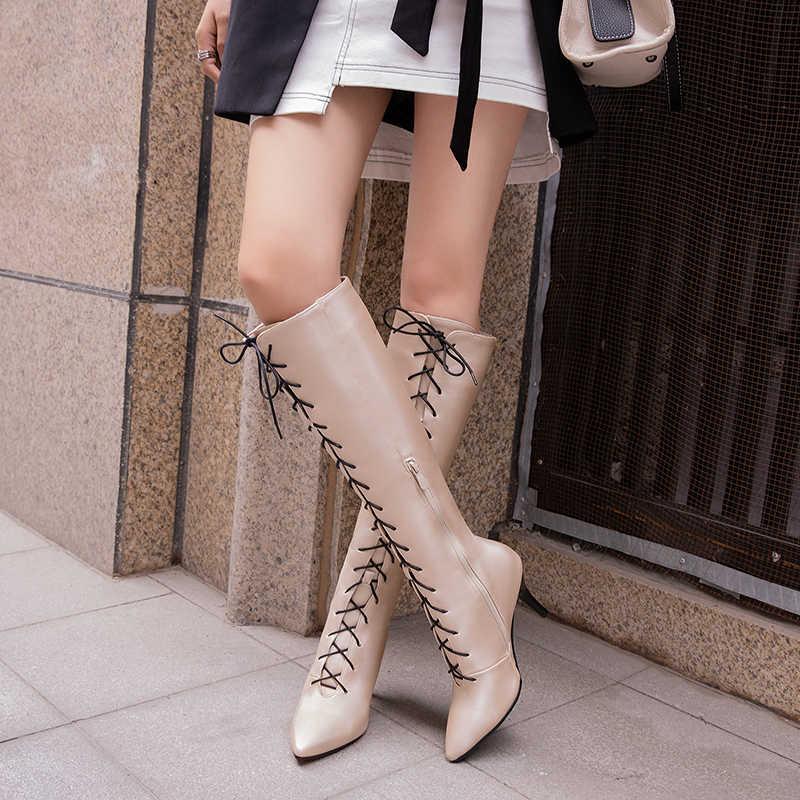Châu Âu Và Mỹ Phối Ren Mỏng Giày Cao Gót Mũi Nhọn Cao Cấp Giày Tím Nữ Tím Thời Trang Giày Lớn 44 45 46 47