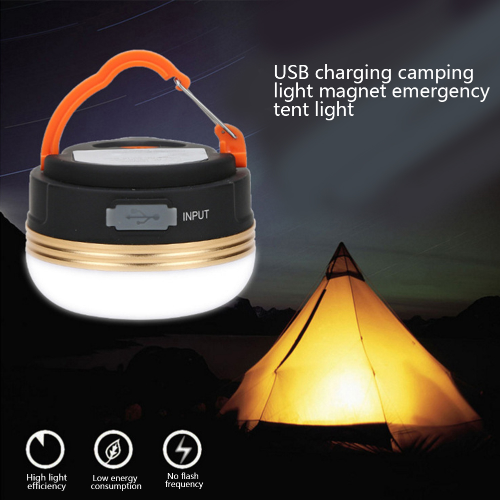 Mini Portable Camping Lights 3W LED Camping Lantern Tents Lamp Outdoor Hiking Night Hanging Lamp USB Rechargeable Night Lamp
