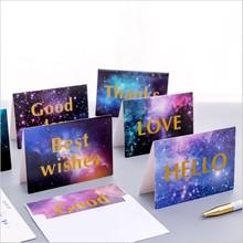 3 sztuk partia kartkę z życzeniami urodzinowymi z kopertą gwiazda serii wiadomość kartkę z życzeniami Event Party zaproszenie karty siedzenia tanie tanio CBTstationery CN (pochodzenie) 13 5x9cm XF2012C Okna koperty Paper Prezent koperty