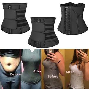 Image 4 - Waist Trainer Women Slimming Sheath Workout Trimmer Belt Latex Tummy Shapewear Sauna Body Shaper Corset Sweat Reducing Girdles