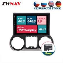 Con carplay DSP Android 9,0 Unidad de reproductor Multimedia para coche para Jeep grand wrangler 2012-2016 Radio Estéreo gratis GPS mapa pantalla táctil
