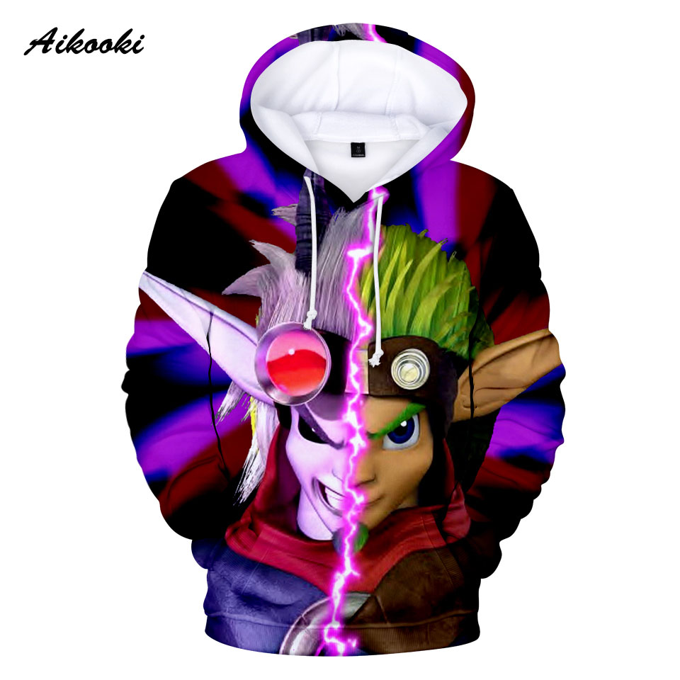 2020 Classic Game Jak and Daxter Hoodies Anime Hoodie Sweatshirt Funny Pullovers Jak Daxter Long Sleeve 3D Print High Quality
