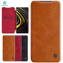 For Poco M3 Case NILLKIN Wallet Leather Flip Cases For Xiaomi Poco M3 Leather Case With credit card slot For Xiaomi Poco M3