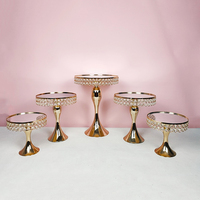 5pcs gold silver color cake stand for wedding cake