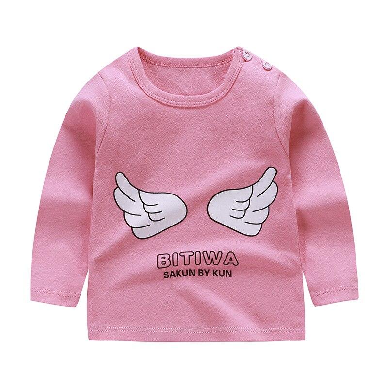 От 6 месяцев до 5 лет унисекс; сезон осень-зима; хлопковая футболка с длинными рукавами и героями мультфильмов; футболки для маленьких мальчиков и девочек; детская повседневная одежда; одежда с круглым вырезом