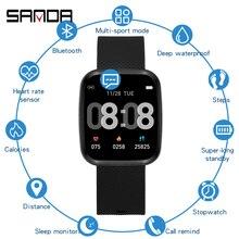 SANDA, Роскошные Смарт-часы для мужчин, спортивные, женские часы, электронный светодиодный, женские, мужские, цифровые часы, силиконовый ремешок, наручные часы для женщин