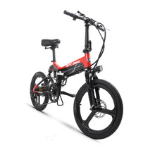 Electric-Bicycle-48v500w Ebike Fold-Frame Double-Suspension Lithium-Battery Urban 20inch