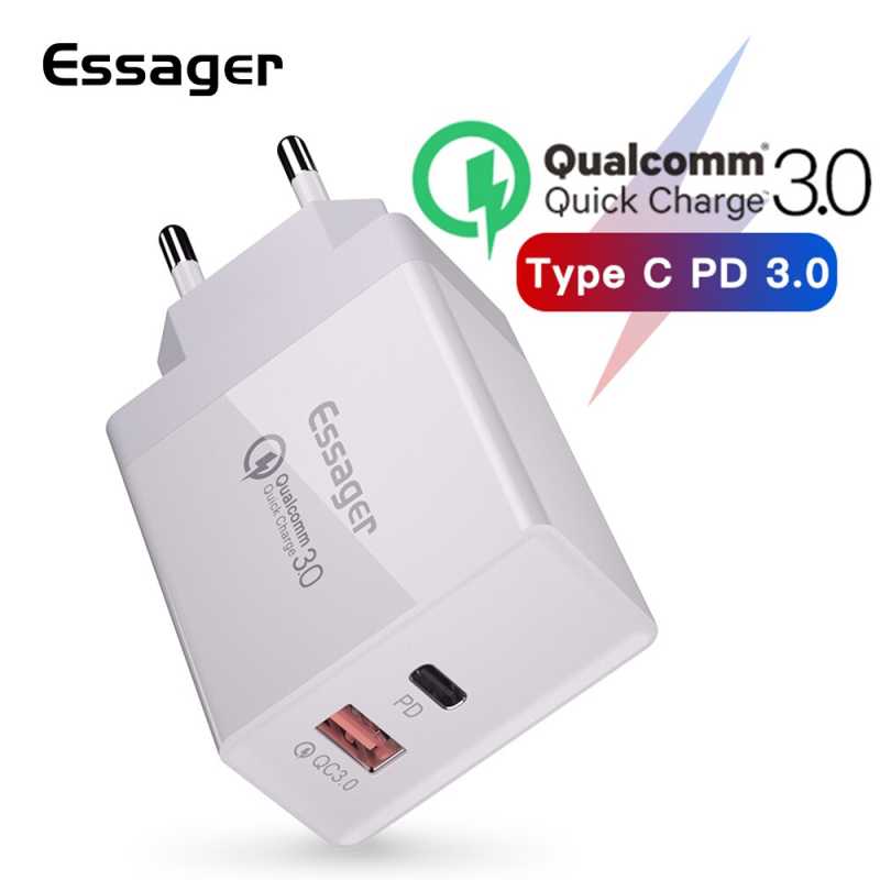 Essager Usb-Charger Plug-Turbo QC3.0 Type-C Fast-Charging-Wall PD 36W