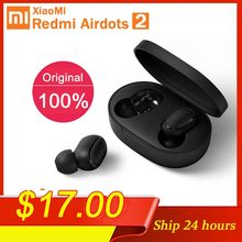 Baru Asli Xiaomi Redmi Airdots 2 TWS Bluetooth Earphone Stereo Bass BT 5.0 Eeadphones dengan Mic Handsfree Earbud AI Control(China)