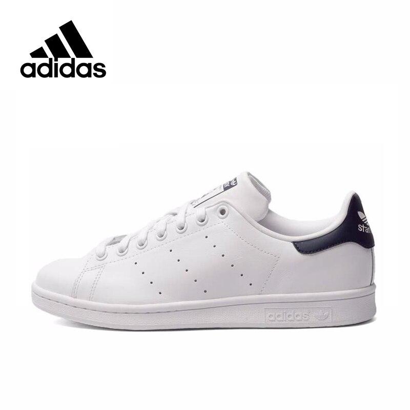 Original Adidas Clover StanSmith Men And Women Skateboarding Shoes Black Logo Sneakers Comfortable Non-slip Footwear M20325