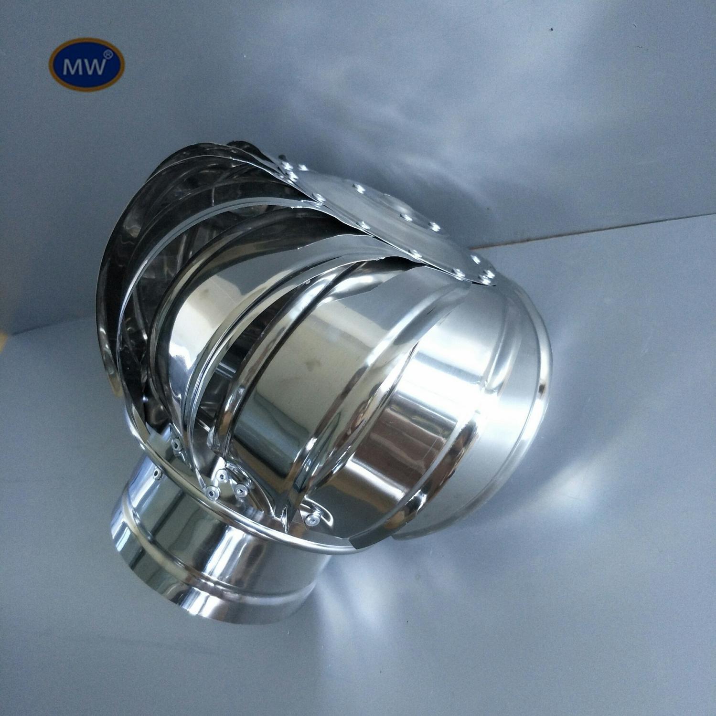 Stainless Steel Roof Ventilator Wind Turbines Air Vent Attic Ventilator 100mm 150mm powerless roof fans ventilator