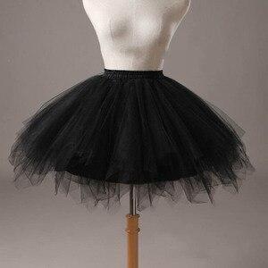 Image 2 - Short Girl Layered Tulle Ballet Dance Elastic Mini Tutu petticoat Ruffled Trim Fluffy Sweet Color Party  Princess Pettiskirt