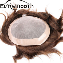 Fashion Mens Toupee Super Thin Skin French Lace Hair System Human Hair Men's Toupee Hair Replacement System Black Thin Lace Wig