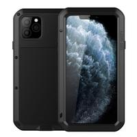 Heavy Duty Protective Case For iPhone 11 11Pro with glass film Case Shockproof Metal Armor Cover for iPhone 11 Pro Max