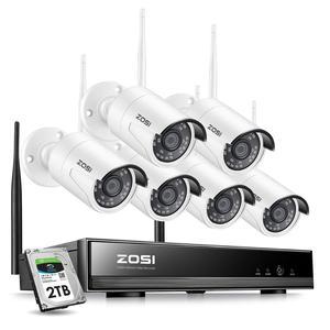 Image 1 - ZOSI 8CH 1080P H265+ Wifi NVR 2.0MP Security Camera System 2/6pcs IR Outdoor Waterproof CCTV Camera Wireless Surveillance System