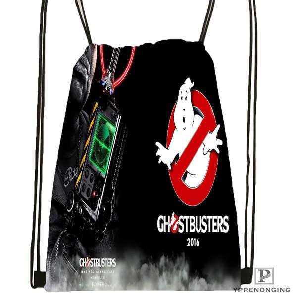 Custom Ghostbusters-leslie-jones- Drawstring Backpack Bag Cute Daypack Kids Satchel (Black Back) 31x40cm#20180611-02-80