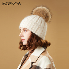 Winter Hats For Women Skullies Beanies Pompom Fur Hats Rabbi