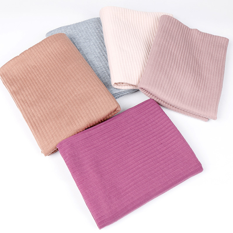 20 Colors Fashion Wrinkle Jersey Hijab Scarf Cotton Plain Elasticity Shawls Crinkle Hijab Long Muslim Head Wrap Snood 180*85Cm