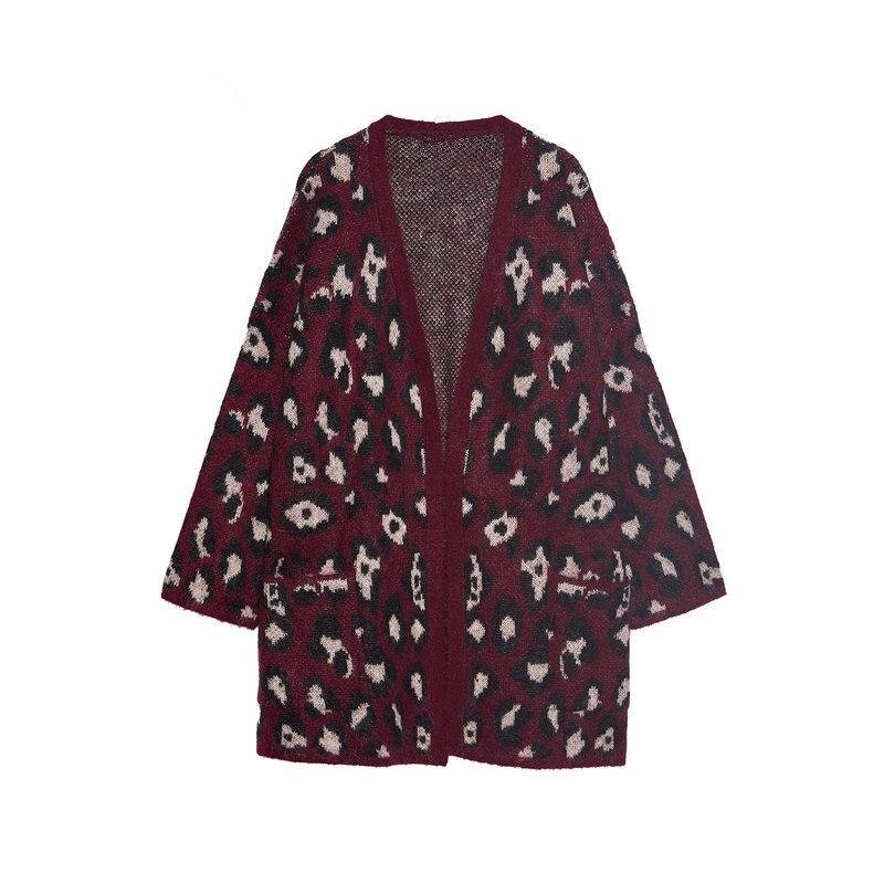 ZAraing New Winter Long Section Of Women's Fashion Loose Knit Cardigan Jacket