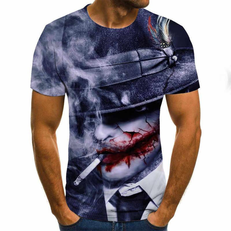 Maglietta di Modo Degli Uomini/Donne Horror Zombie 3D Stampa T-Shirt Manica Corta Stile Harajuku Tshirt Streetwear Tops