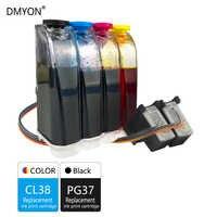 DMYON Compatibile per Canon PG37 CL38 CISS Bulk Ink per IP1800 IP1900 IP250 IP2600 MP140 MP190 MP210 MP220 MP470 MX300 stampante