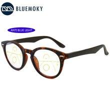 BLUEMOKY Anti Blau Licht Progressive Multifokale Lesebrille Männer Frauen Multi-funktionale Presbyopie Kurzsichtige Hyperopie Brillen