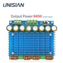 UNISIAN 420W+420W TDA8954 Auido Amplifier Board Class D BTL TDA8954TH 2.0 Channel Digital Ultra Power High Amplifiers AC 24 30V