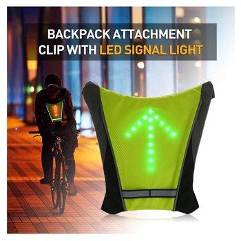 Kamizelka rowerowa noc turystyka rowerowa światło sygnalizacyjne LED wskaźnik kamizelka odblaskowa rower plecak bezpieczeństwo Turnning światła sygnalizacyjne kamizelki tanie i dobre opinie NYLON CN (pochodzenie) Zabezpieczenie przed wodą EL Odblaskowy Signal Light Indicator Vest Cycling Dobrze pasuje do rozmiaru wybierz swój normalny rozmiar