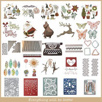 Metal Cutting Dies Halloween Christmas Animals Flower Hollow Square Frame Die Cut Scrapbook Craft Decorate Cards Make Album 2020 j c hollow square design emerald cut amethyst pink